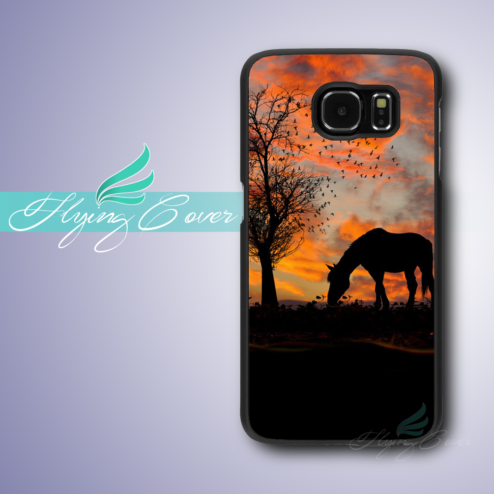 Coque Horse Sunset Tree Cases for Samsung Galaxy S8 Plus S5 S6 S7 Edge Active Case for Samsung Galaxy Grand Prime Note 8 Cover.