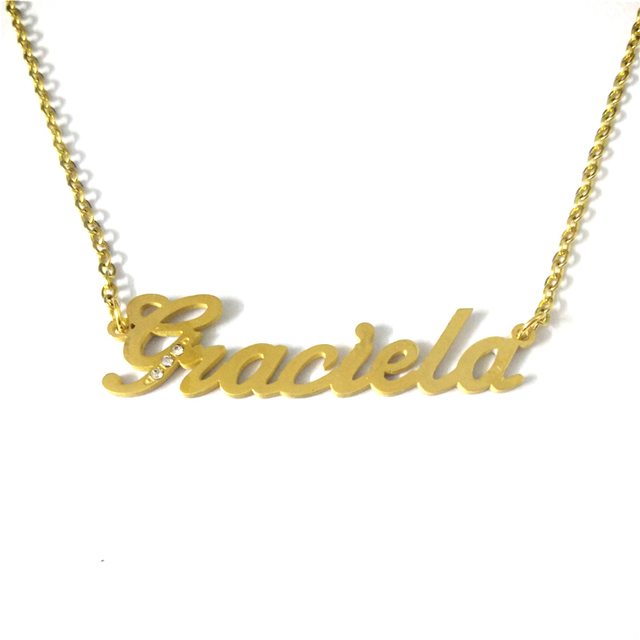 dfc12fc1b FairLadyHood Graciela Handmade Personalized Custom Name Necklace Women Girl  Best Gift Customize Name Letter Necklace Jewelry