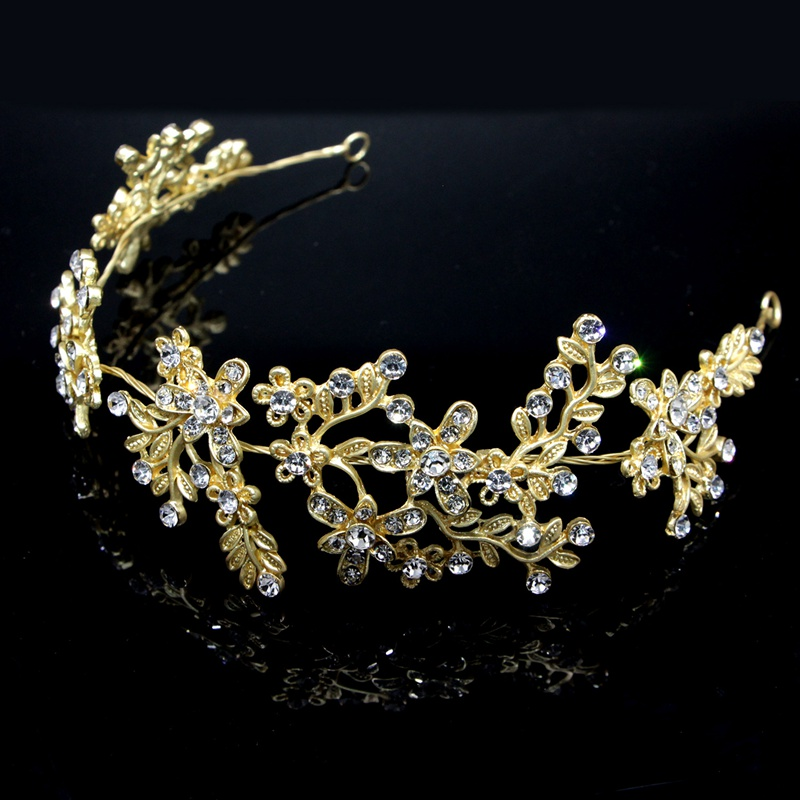Vintage Boho Hair Vine Wedding Prom Headband Bridal Crystal Pearl Hairband