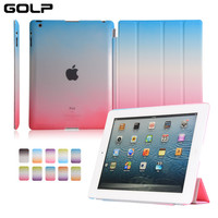 For Apple Ipad 2 3 4 Case Colorful Rainbow Smart Cover Coque Case For Ipad 4