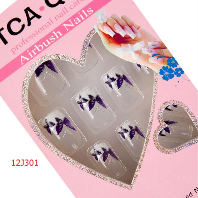 24pcs/Pack False Nails + glue