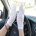 Mens Gloves For Women 2017 Car Moto Lace Gloves Sunscreen Non-slip Male Cotton Sun Protection Leather Gloves Guantes UnIsex