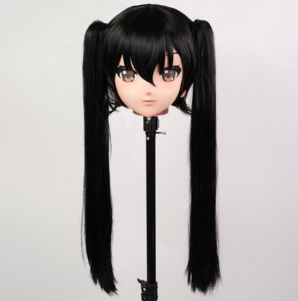 (KIG69)Female/Girl 3/4 Head Kigurumi Crossdress Cosplay Japanese Anime Role Nakano Azusa Lolita Mask Crossdresser Doll