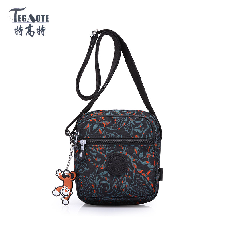 TEGAOTE 2018 Women Messenger Bags Fashion Mini Bag With Monkey Crossbody Women Shoulder Bags Handbag Bolsos Cellphone Pouch tegaote new design women backpack bags fashion mini bag with monkey chain nylon school bag for teenage girls women shoulder bags