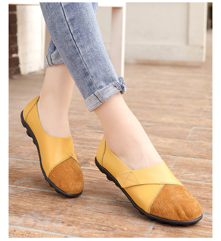 AH 1987-2019 Spring Autumn Women's Shoes Genuine Leather Woman Loafers-21