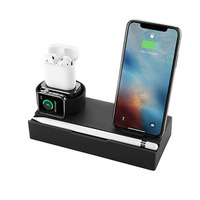 8In 1 Premium Aluminum Alloy Charger Dock Station Holder ForiPhone/AirPods/AppleWatch/Apple pen/Ipad/Wireless charging D.19