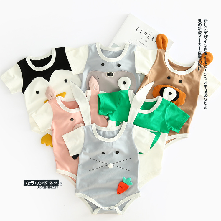 Cute Newborn Baby Girl  Romper Clothes Infant Bebes Jumpsuit cotton Animal style Rompers Jumpsuit Sunsuit Outfits newborn infant baby girl cotton clothes romper long sleeve plaid zipper cute jumpsuit rompers clothing outfits