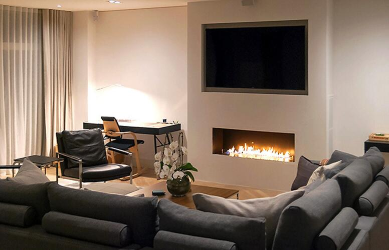 24 Inch Silver Or Black Wifi Real Fire Intelligent Indoor Auto Ethanol Fireplace China