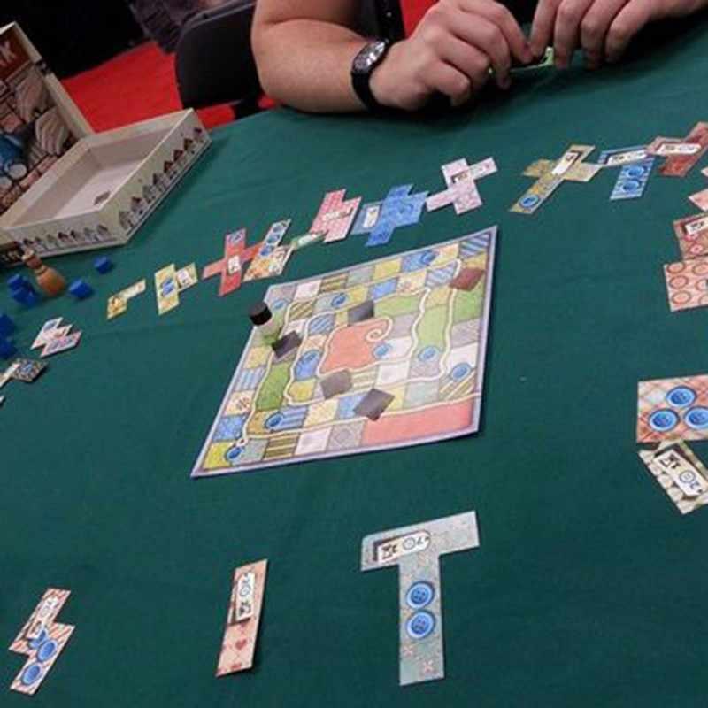 パッチワークのボードゲーム 2 プレーヤーおかしいパーティーゲーム紙カード中国/英語版送料無料