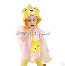 Korean Style burberry kids Raincoat Yellow Rainwear Children Cartoon Transparent Eco friendly Poncho Boys Girls Baby