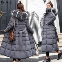 Cotton Hot Sale Solid Full Pockets Zippers Female Long Coat 2019 New Slim Parka Padded Jacket Winter Thick Warm Windbreaker