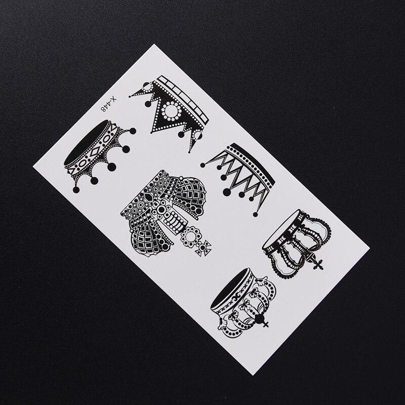 1 Sheet New Crown/feather/diamond /swallow Tattoo Waterfproof Fake Temporary Tattoo Sticker Body Cat Star Infinity Bird Tattoo