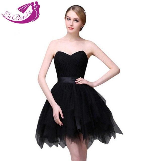 422dd7cbd0c4 Short Cocktail Dresses Vestidos Coctel Sweetheart Off Shoulder Mini Pleat  Tulle Homecoming Dresses Black Cocktail Dress WA638