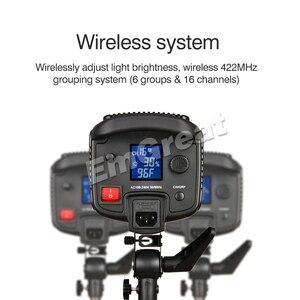 Image 4 - Godox SL 150W 150 ワット 5600 18K CRI 93 + 16 チャンネル LED スタジオ連続ビデオライト Bowens 一眼レフカメラ用カメラとリモコン