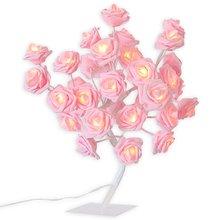 24 светодиодный Настольный светильник с розовыми розами, украшение для дома, светильник с розами, ночник для рождественской вечеринки, свадьбы, декор для гостиной