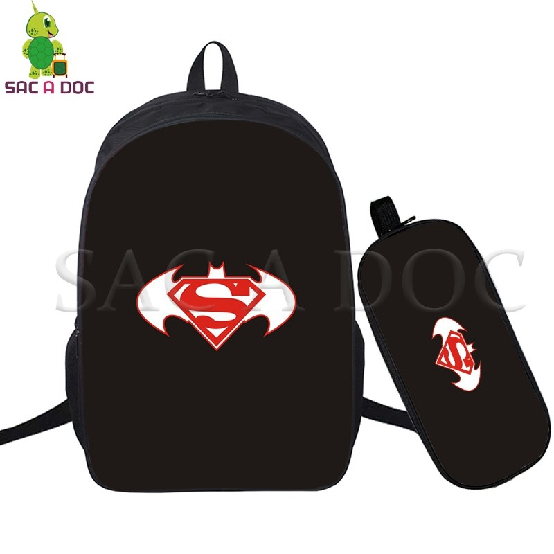 Batman Vs Superman 2 Pcs/set Daily Backpack School Bags For Teenagers Girls Boys Daily Laptop Backpack Superhero Travel Bags Famous For High Quality Raw Materials Full Range Of Specifications And Sizes And Great Variety Of Designs And Colors