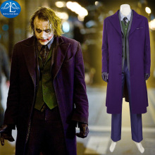 MANLUYUNXIAO Batman The Dark Knight Joker Costume Suit Outfits Halloween Cosplay Movie Hero Full Set