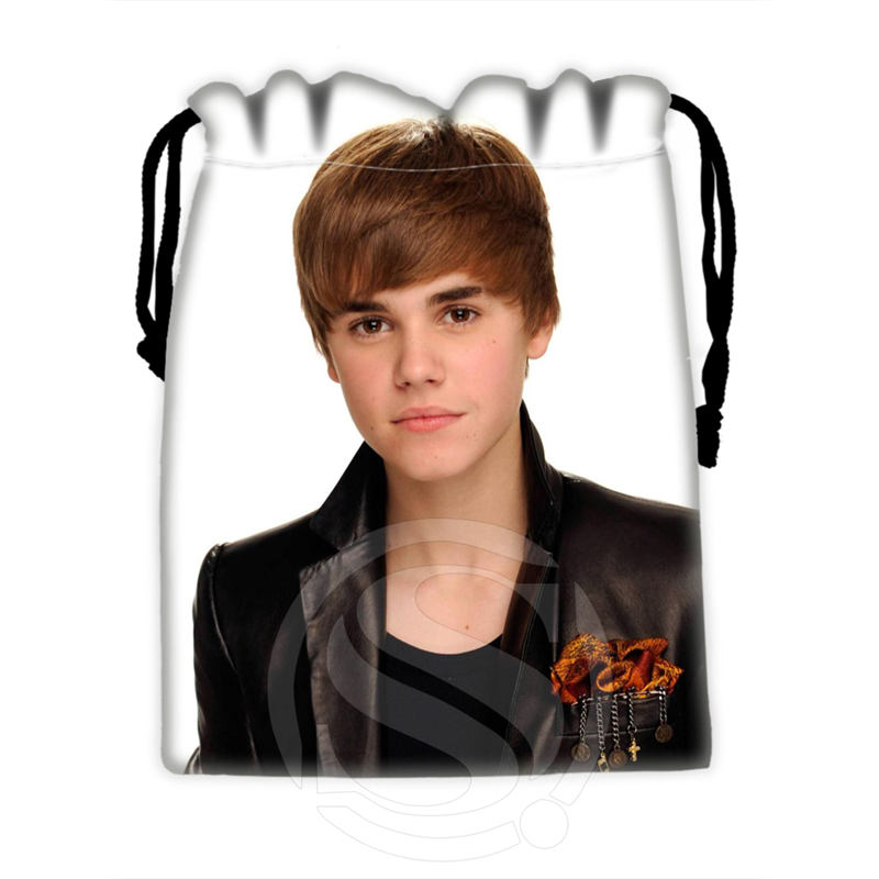 H P735 Custom Justin Bieber 2 drawstring bags for mobile phone tablet PC packaging Gift Bags18X22cm