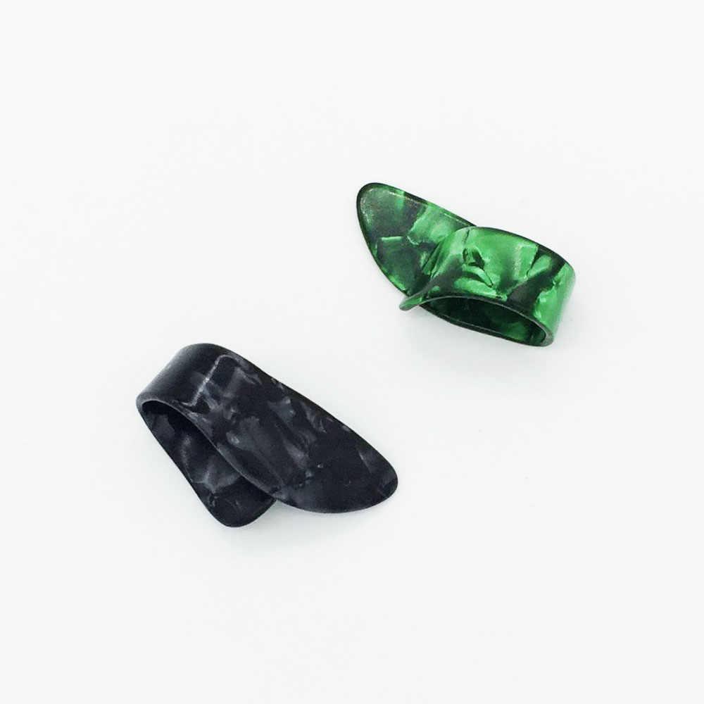 1 قطعة الإبهام إصبع الغيتار اختيار السيلويد الوسيط الإبهام ل الصوتية الكهربائية غيتار سمك 1.2 مللي متر