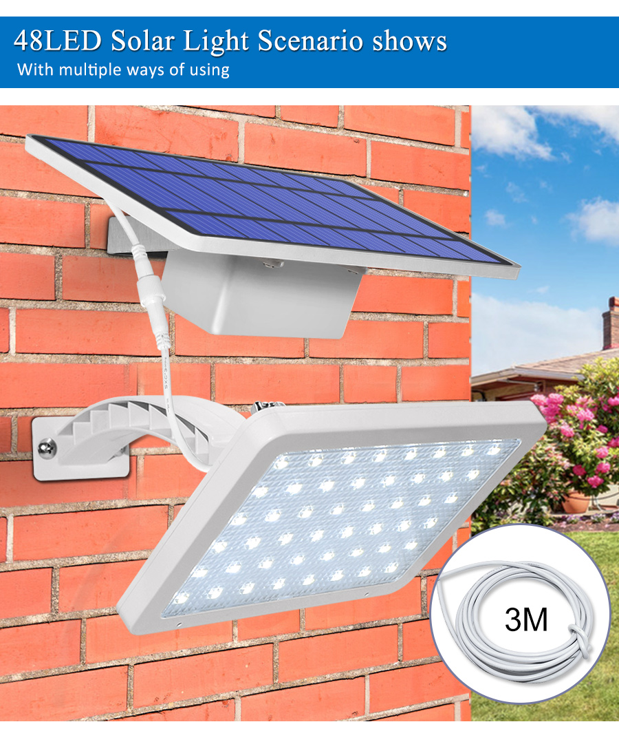 800lm Solar Outdoor Light for with 48 LED With Adjustable Lighting Angle for Garden and Yard Security 13