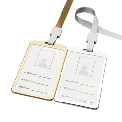Новое поступление, алюминиевый сплав, металлический вертикальный держатель для удостоверения личности, банковский держатель для кредитны...