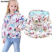 AiLe Rabbit Autumn Hot Sale Children's Jacket Fashion Coat Kids Girl Tops Zipper Cardigan Cartoon Animal Brand High Quality k1