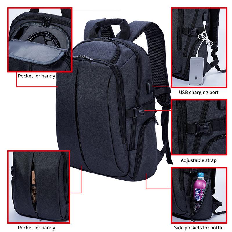 KALIDI bärbar väska 17 tum för Mackbook Air Pro 15 17 Business - Laptop-tillbehör - Foto 4