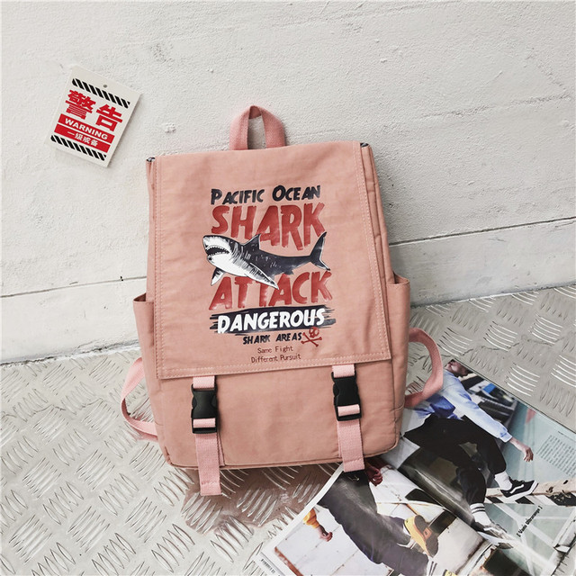 Street photo Japanese schoolbag female student Korean fashion couple shoulder bag male junior high school campus Backpack