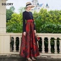 Цельнокроеное платье 2018 осень зима Вечерние вечернее платье макси Для женщин Винтаж принт в стиле пэчворк с длинными рукавами бальное плат