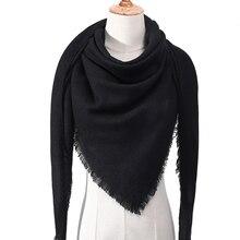 Кашемировый шарф для женщин осень зима шали обертывания шеи Теплый головной платок одеяло triangel пашмины платок-Бандана femee
