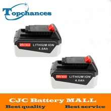 2x High Quality 20V 4000mAh Li-ion Rechargeable Power Tool Replacement Battery for BLACK & DECKER LB20 LBX20 LBXR20 LB2X4020-OPE