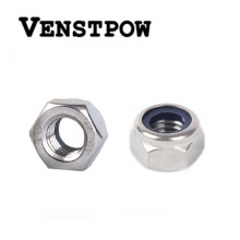 50pcs/lot Metric DIN985 M2 M2.5 M3 M4 M5 M6 M8 M10 M12 304 Stainless Steel Hex Head Nylon Insert Lock Nuts