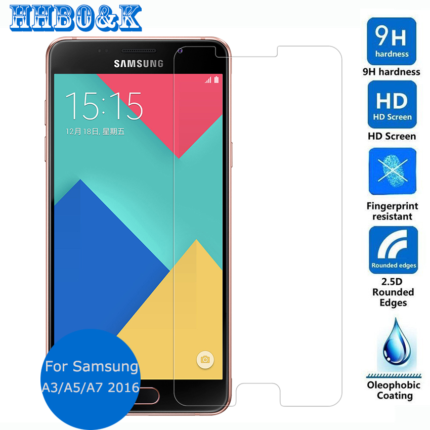 For Samsung Galaxy A3 A5 A7 2016 Duos Tempered Glass Screen Protector 2 5 9h Safety
