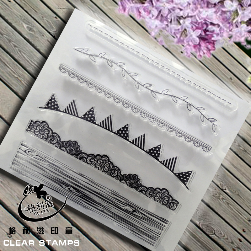 1PCS Borderlines Transparent Stamp Variety Of Styles Clear Stamp For DIY Scrapbooking Photo Album Diary Decoration Supplies lovely animals and ballon design transparent clear silicone stamp for diy scrapbooking photo album clear stamp cl 278