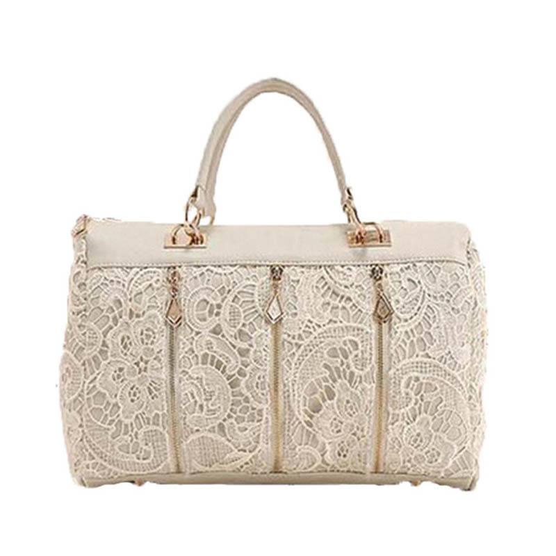 Spring 2017 new Korean children lace princess Fan female big bag fashion casual shoulder bag lady hand Xiegua