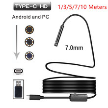 USB TYPE-C Inspection Endoscope Camera 7MM 1/3/5/710Meters 6LED HD For S8 LG G5/G6/V20 Pixel P9/P10 Oneplus 2/3/3T Android Phone