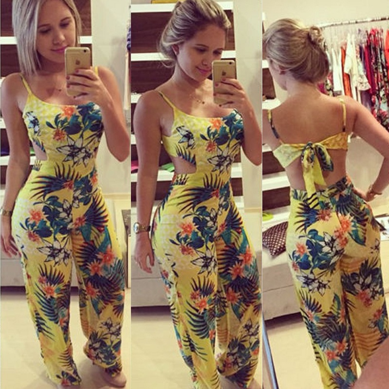 2018 New Women Ladies Sleeveless O Neck Loose Clubwear Summer Playsuit Bodycon Party Jumpsuit Trousers  S-XL