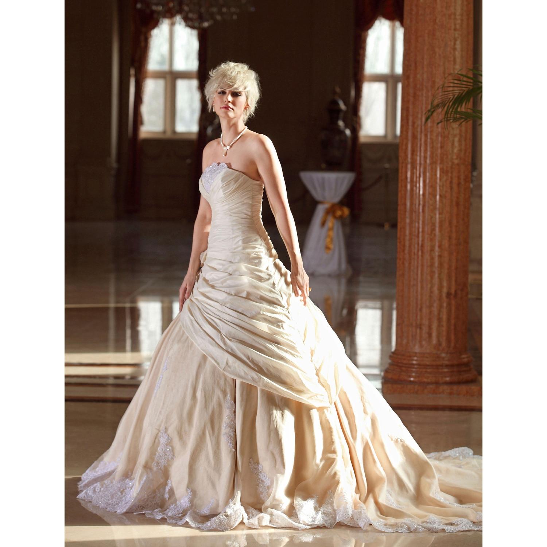 Aliexpress.com : Buy LAN TING BRIDE A Line Wedding Dress