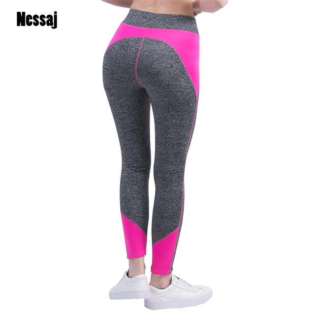 Nessaj Female High Waist  Fitness Pants Legging Workout Activity Leggings Bodybuilding Clothes Body Shapers Women Leggings