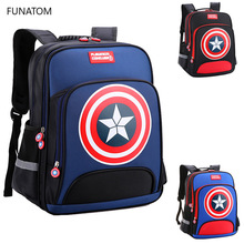 Children 3D Captain America Backpack boys girls Primary school Backpack kids Kindergarten backpack Schoolbag Mochila Infantil new european children backpack school bag girls boys backpack cartoon mochila infantil large capacity orthopedic schoolbag