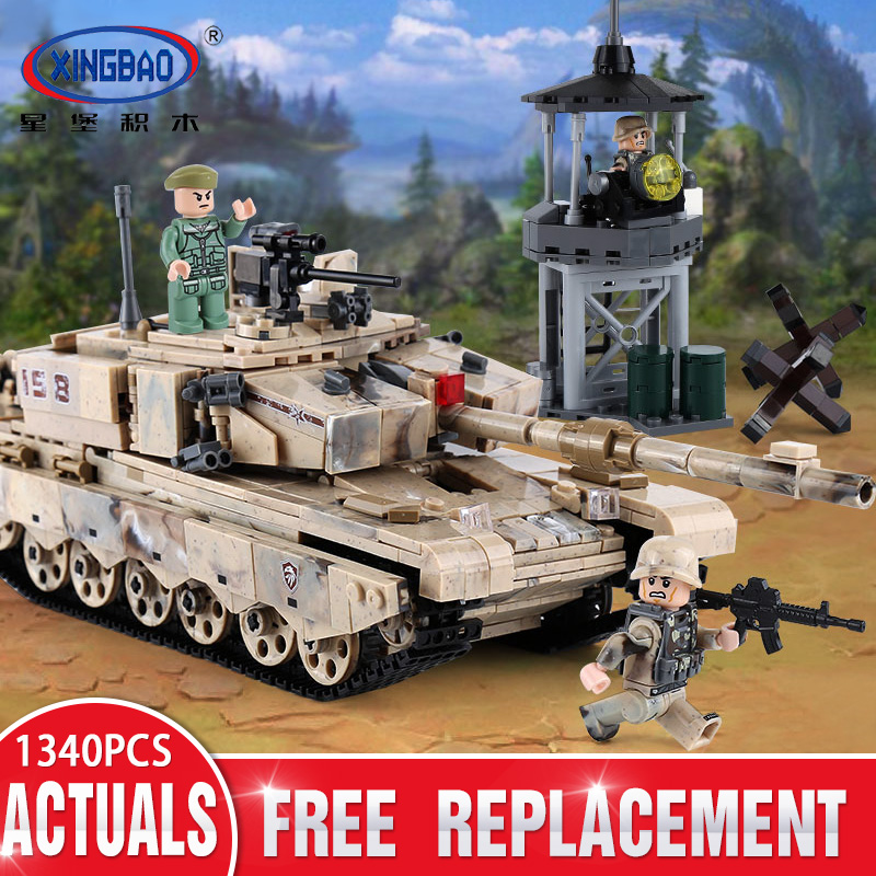 XINGBAO 06021 Military Series The 99 Tank Set compatible LegoING Tank Model Building Blocks Bricks Kid Toy Christmas Gift