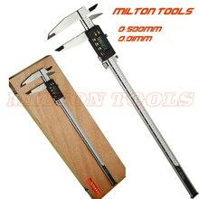 0-500 мм сверхмощный цифровой штангенциркуль 500 мм 20 дюймов Электронный штангенциркуль, измерительные инструменты с наконечниками