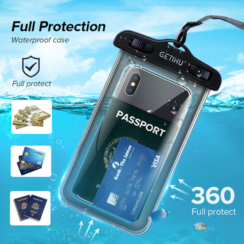 Universal Waterproof iPhone Case + Cover Pouch Bag  For X XS MAX 8 Plus  3