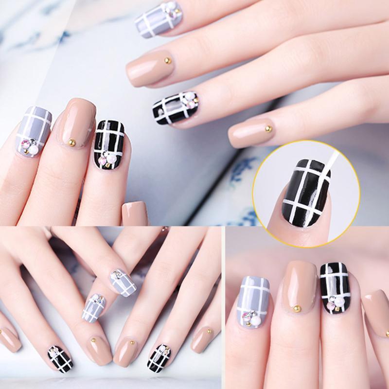 3Pcs/Set Nail Art Lines Painting Pen Brush UV Gel Nail Polish Tips ...