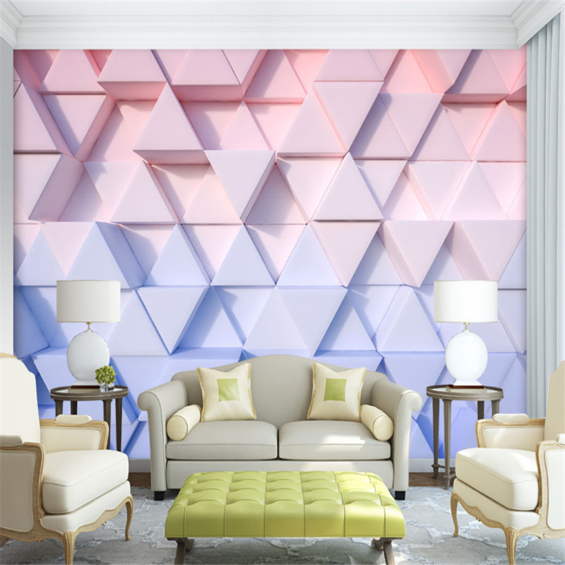 custom modern 3d photo wallpaper 3d high quality non-woven mural wallpaper geometry plaster marble TV background wall home decor beibehang modern luxury circle design wallpaper 3d stereoscopic mural wallpapers non woven home decor wallpapers flocking wa