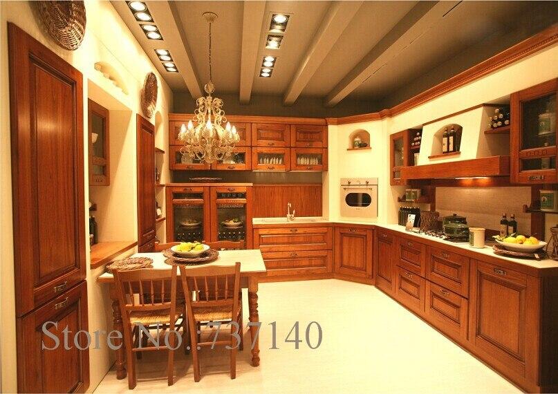 US $5000.0  Armadio da cucina in legno di teak Foshan mobili fabbrica di  alta qualità in legno massello mobili da cucina-in Mobili da cucina da ...