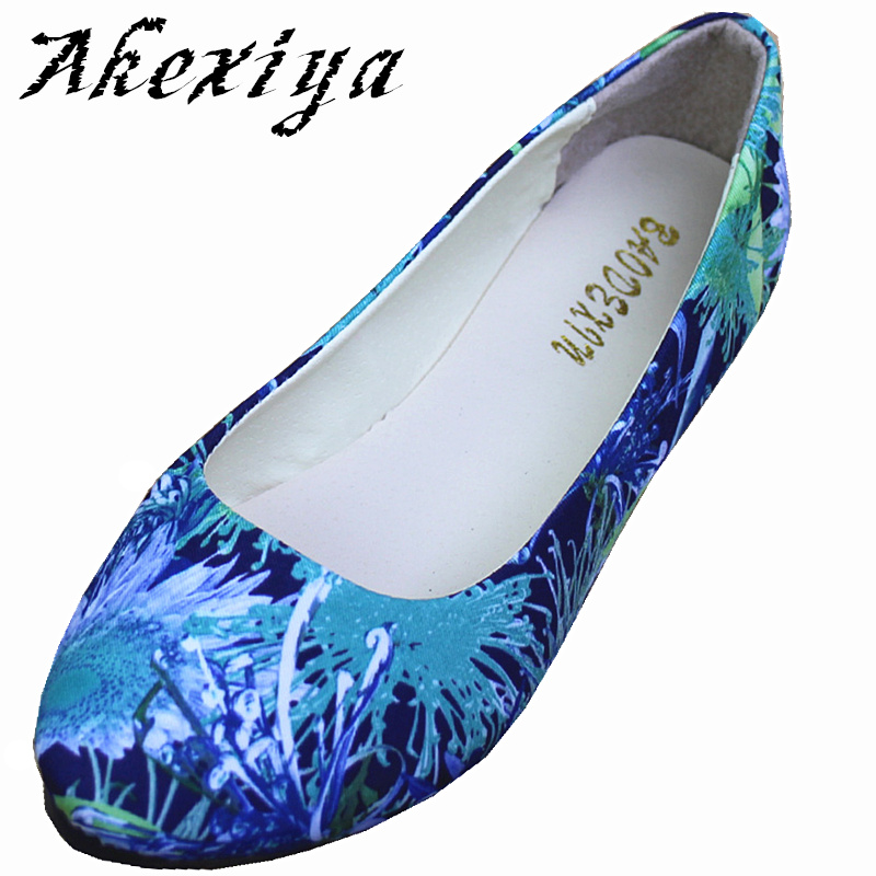Ladies Shoes Ballet Flats Women Flat Shoes Woman Ballerinas Large Size 42 Casual Sapato Womens Loafers Zapatos Mujer 3D Print ballet shoes