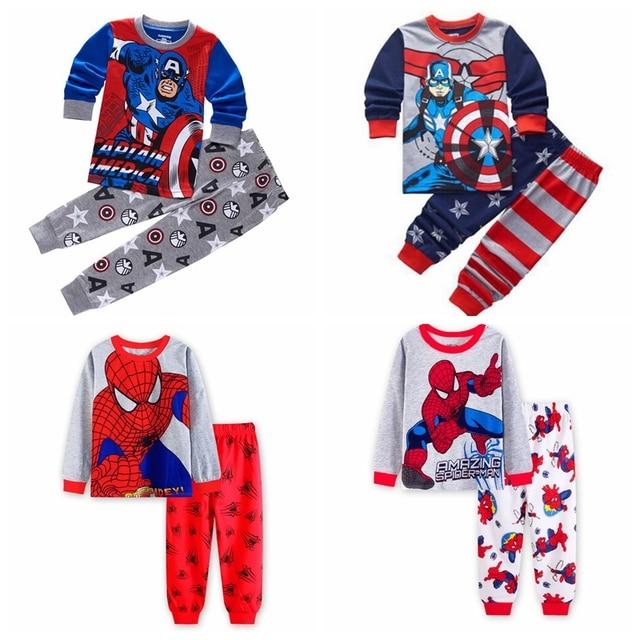 df56726ce887 Spring Autumn Children cartoon Character cotton Pajamas Cartoon Baby ...