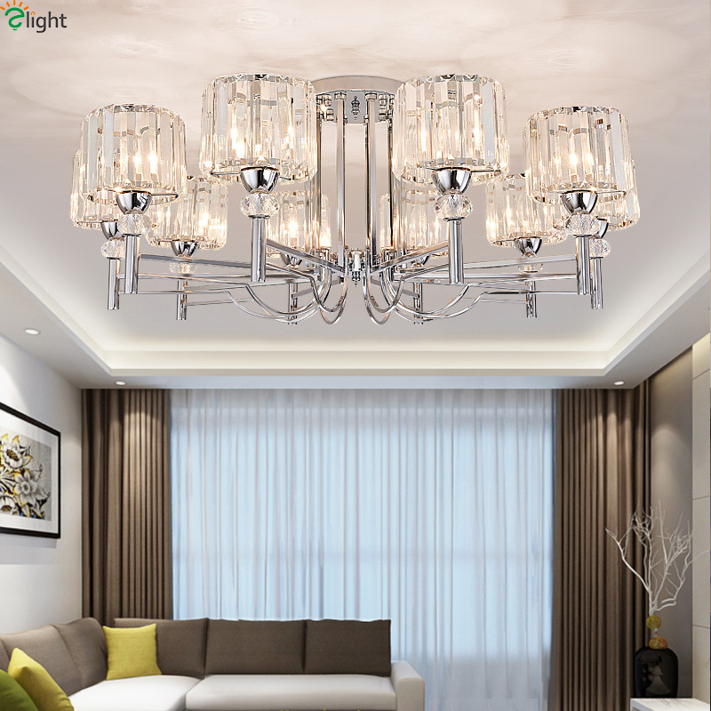 все цены на Modern Glass Led Chandeliers Lighting Chrome Metal Living Room Led Ceiling Chandelier Lights Fixture Dining Room Chandelier Lamp