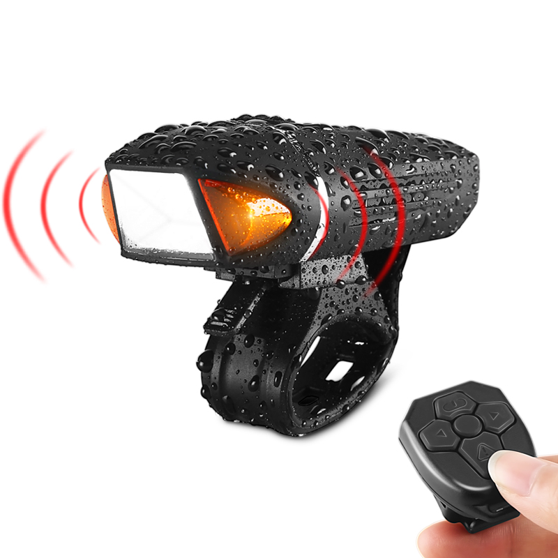 Remote Flashlight For Bicycle Alarm Bell Horn Bike Light Front Head Cycling Lamp USB Rechargeable Road MTB Bicycle Light Lantern